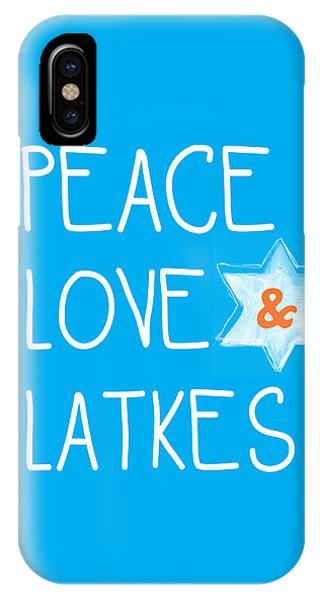 Peace Love And Latkes IPhone Case