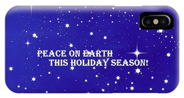 Peace On Earth Card IPhone Case
