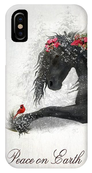 Cardinal iPhone Case - Peace On Earth by Fran J Scott