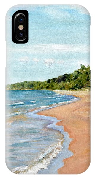 Peaceful Beach At Pier Cove IPhone Case
