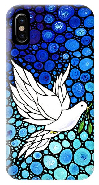 Peaceful Journey - White Dove Peace Art IPhone Case