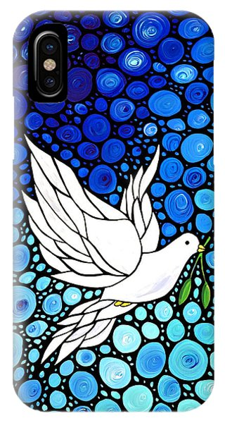 Holidays iPhone Case - Peaceful Journey - White Dove Peace Art by Sharon Cummings