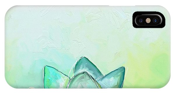 Green iPhone Case - Peaceful Lotus by Cathy Walters