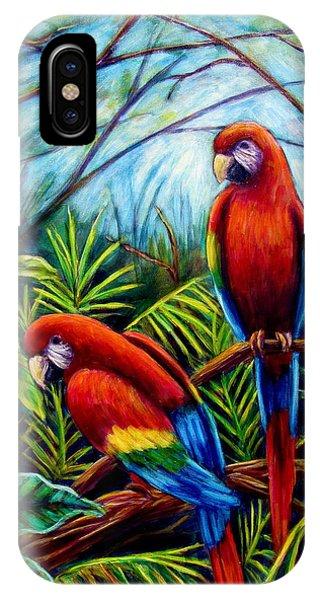 Peaceful Parrots IPhone Case