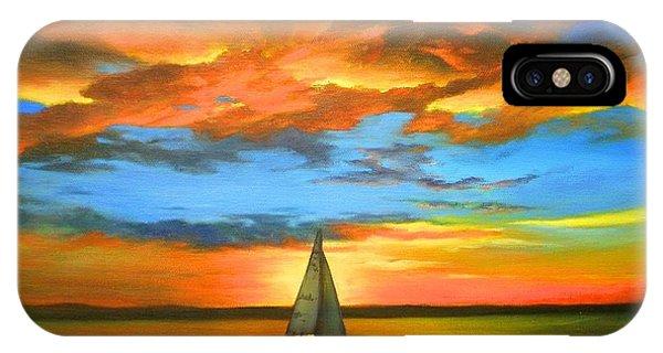 Peaceful Sailing IPhone Case