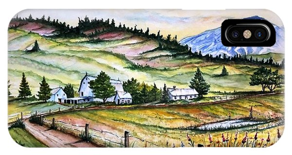 Peaceful Valley Farm IPhone Case