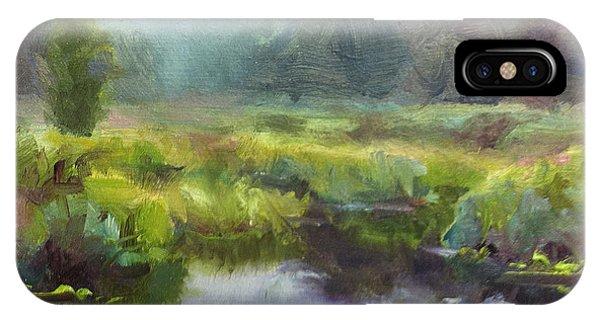 Peaceful Waters Impressionistic Landscape  IPhone Case