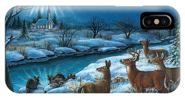 Peaceful Winters Night IPhone Case