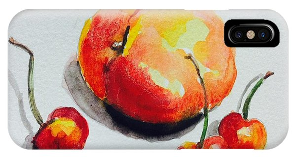 Peach And Cherries  IPhone Case