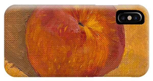 iPhone Case - Peach Painting by