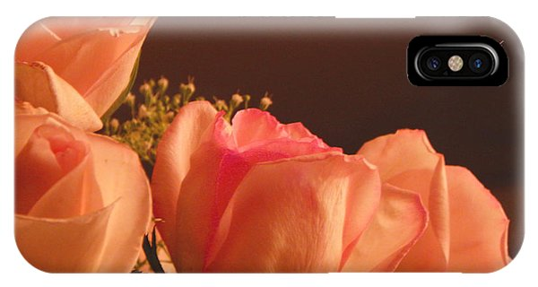 Peach Roses With Scripture IPhone Case