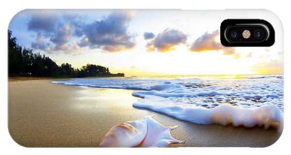 Ocean iPhone Case - Peachs N' Cream by Sean Davey