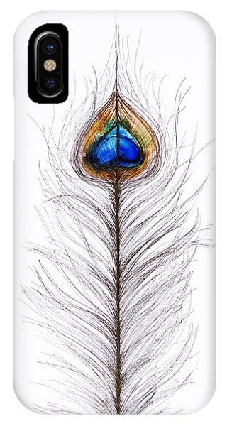 Peacocks iPhone Case - Peacock Abstract by Tara Thelen