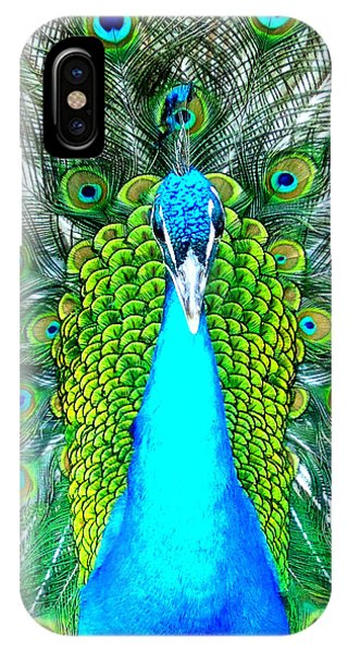 Peacock Face On IPhone Case