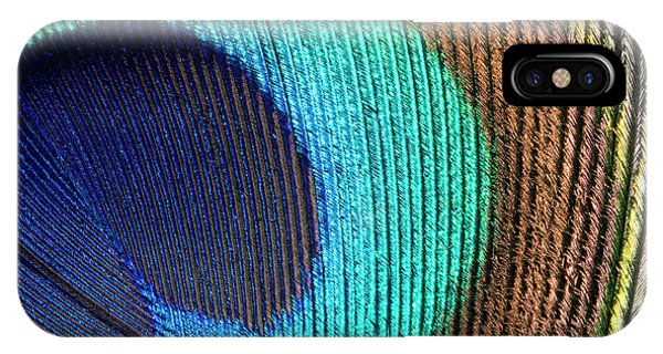 Peafowl iPhone Case - Peacock Feather Abstract by Nigel Downer