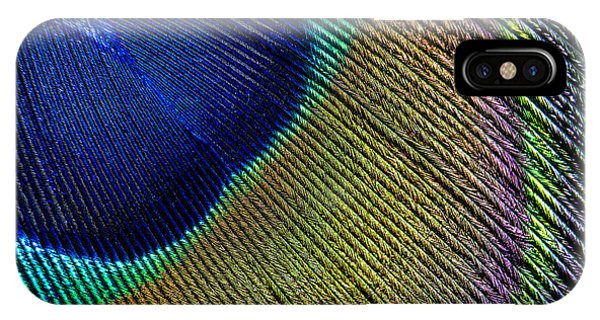 Teal iPhone Case - Peacock Feather Macro by Adam Romanowicz