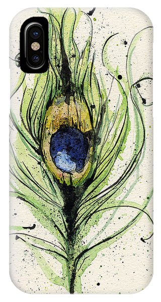 Peacock iPhone Case - Peacock Feather by Mark M  Mellon
