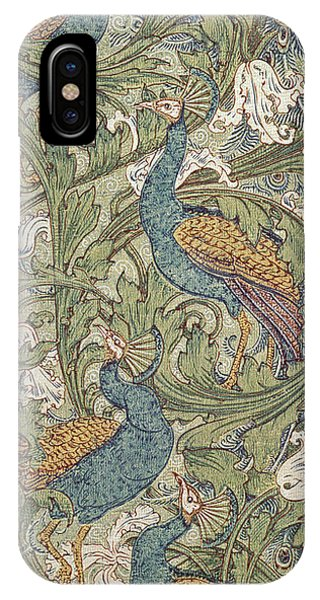 Repeat iPhone Case - Peacock Garden Wallpaper by Walter Crane