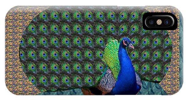 Peacock Graphic Design Based On Photographic Image Artist Navinjoshi IPhone Case