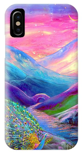 Magician iPhone Case - Peacock Magic by Jane Small