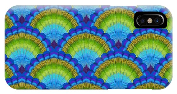 Peacock iPhone Case - Peacock Scallop Feathers by Kimberly McSparran