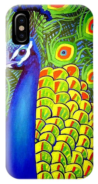 Peacocks iPhone Case - Peacock Vii by John  Nolan
