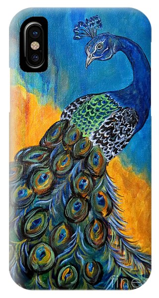 Peacock Waltz #3 IPhone Case