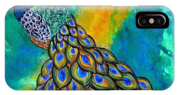 Peacock Waltz II IPhone Case