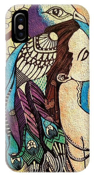 Peacock Woman IPhone Case