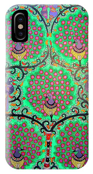 Peacocks-madhubani Painting IPhone Case