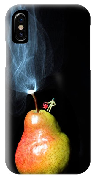 Pear And Smoke Little People On Food IPhone Case