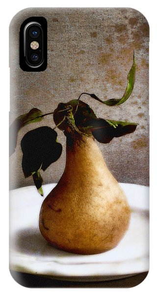 Pear On A White Plate IPhone Case