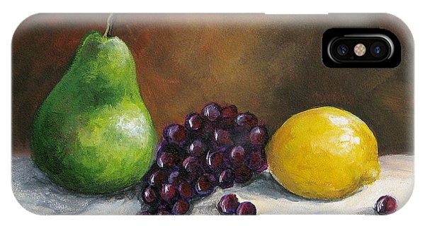 Pear Study With Lemon IPhone Case