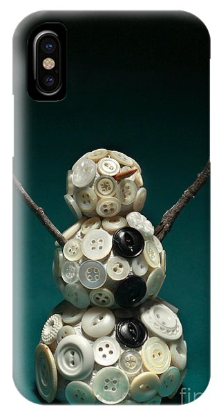 Bone iPhone Case - Pearly Snowman Christmas Card by Adam Long