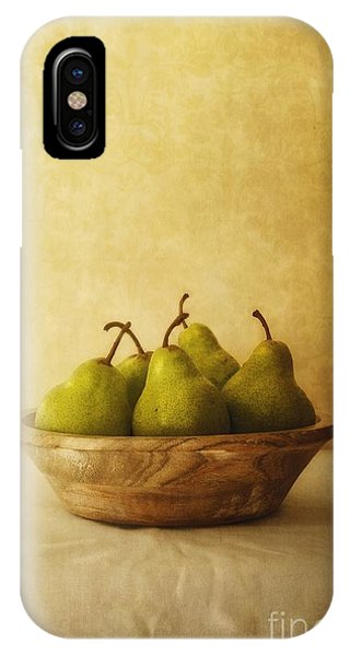Pears In A Wooden Bowl IPhone Case