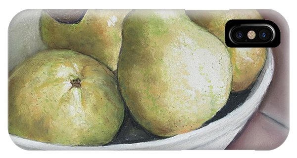 Pears In Bowl IPhone Case