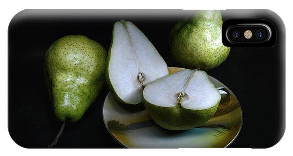 Pears On Noritake - Still Life IPhone Case