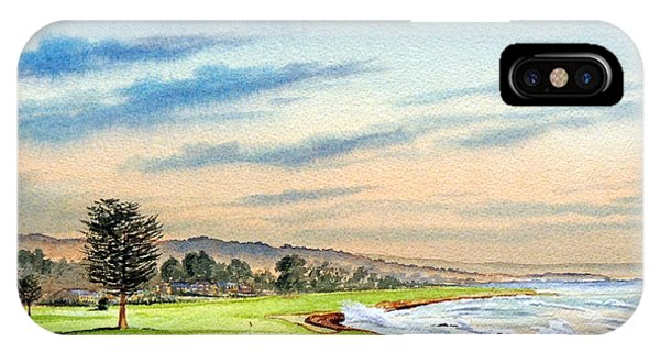 Monterey iPhone Case - Pebble Beach Golf Course 18th Hole by Bill Holkham