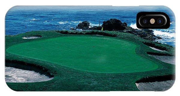 Pebble Beach Golf Course 8th Green IPhone Case