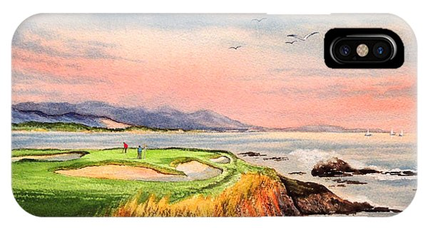 Monterey iPhone Case - Pebble Beach Golf Course Hole 7 by Bill Holkham