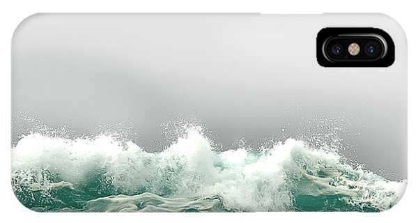 Pebble Beach In The Fog IPhone Case