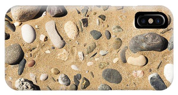 Pebbles On Beach Pattern IPhone Case