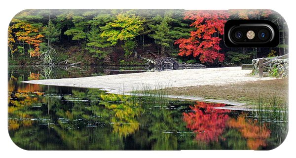 Peck Pond Autumn Reflections Ix IPhone Case