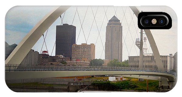 IPhone Case featuring the photograph Pedestrian Bridge by Judy Hall-Folde