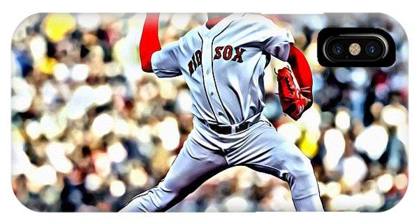 Boston Red Sox iPhone Case - Pedro Martinez by Florian Rodarte
