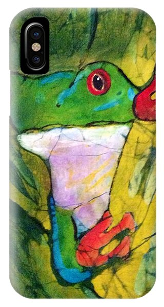 Peek-a-boo Frog IPhone Case