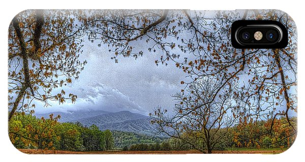 Sherri iPhone Case - Peeking At Mountains From Under Tree by Sherri Duncan