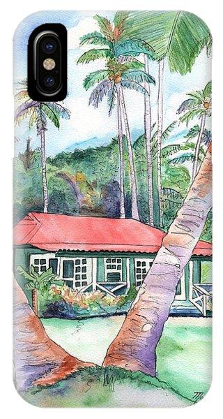 Peeking Between The Palm Trees 2 IPhone Case