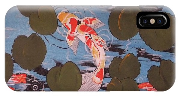 Peeking Koi IPhone Case