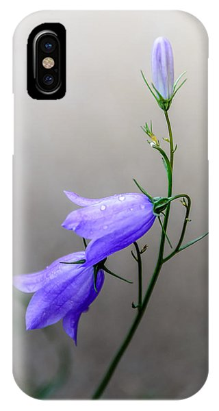 Blue Bells Peeking Through The Mist IPhone Case